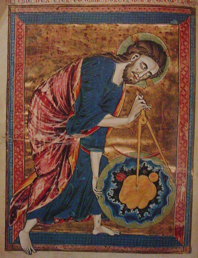 God The Geometer, Bible Moralisée, 1215 4