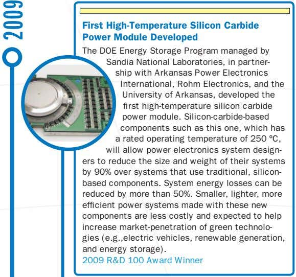 First High-Temperature Silicon Carbide Power Module Developed The DOE Energy Storage Program managed by Sandia
