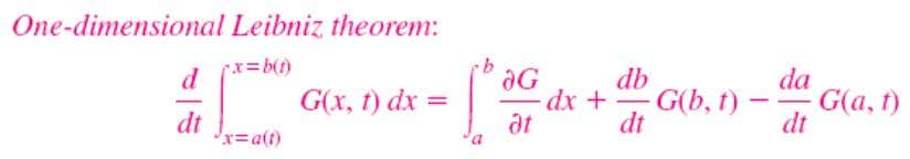 Alternate Derivation of the Reynolds Transport Theorem A more elegant mathematical derivation of the Reynolds transport