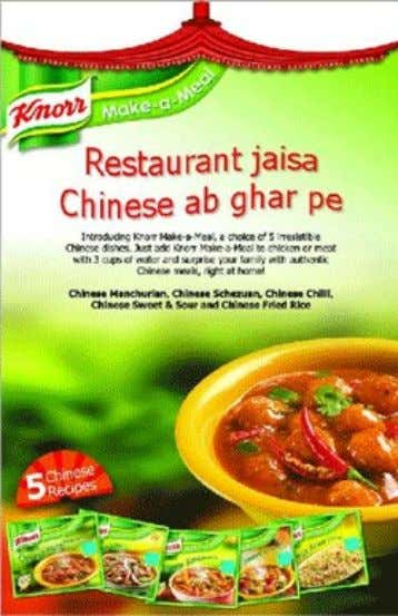 "Knorr has associated its ""make-a-meal"" packaged Chinese food items with Chinese food served in restaurants …"
