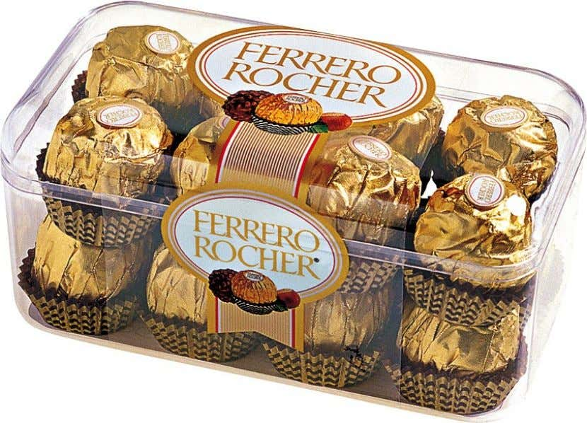 "Many chocolate brands like Nestle's Black Magic and "" Ferrero Rocher "" target the ""gift segment"""