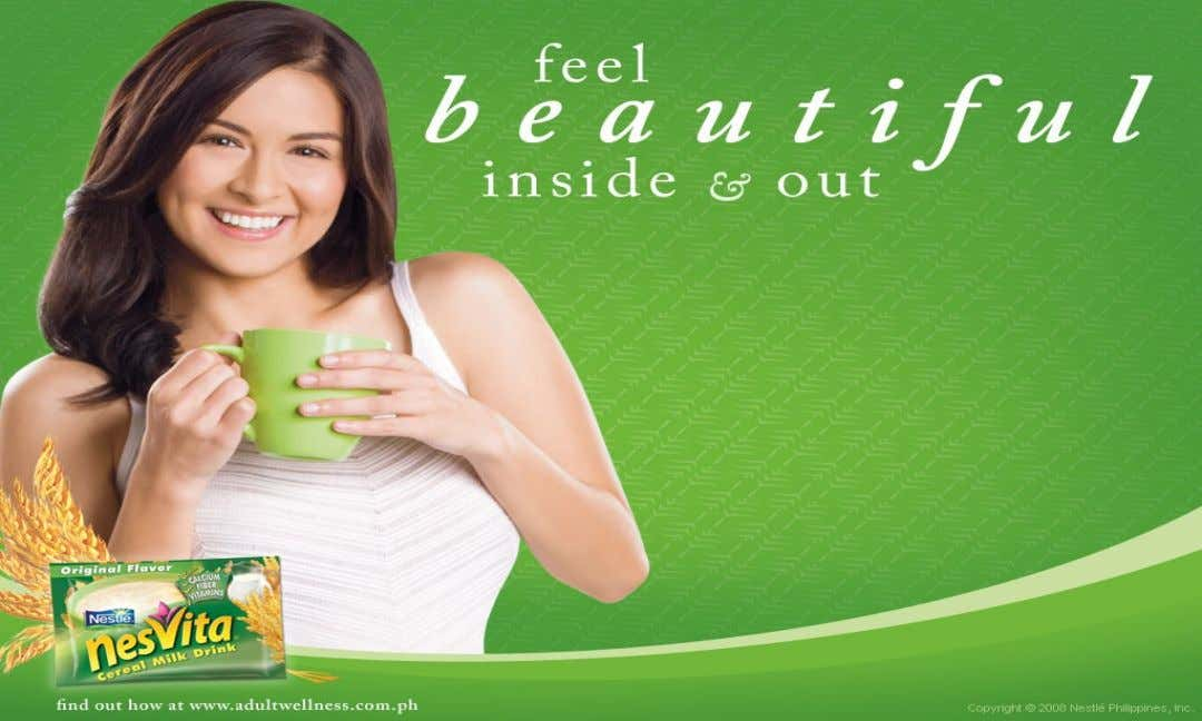 "Nesvita brand of Nestle targets a distinctive ""lifestyle segment"" of ""health and fitness conscious young women"""