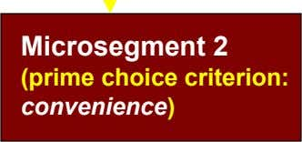 Microsegment 2 (prime choice criterion: convenience)