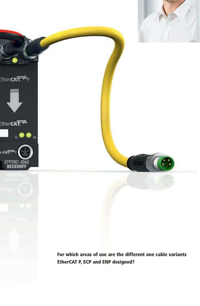 For which areas of use are the different one cable variants EtherCAT P, ECP and