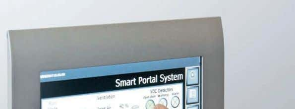 the repair shop is not contaminated with solvent particles. An ARM-based CP6606 Panel PC is used