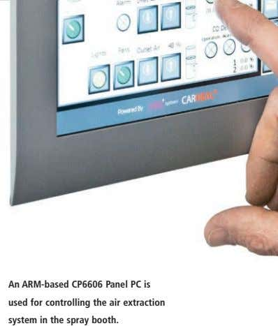 An ARM-based CP6606 Panel PC is used for controlling the air extraction system in the