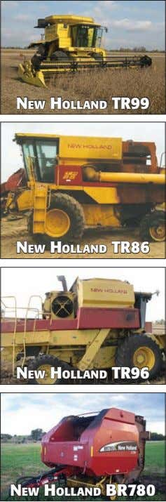 NeW HOllAND TR99 NeW HOllAND TR86 NeW HOllAND TR96 NeW HOllAND BR780