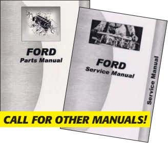 CALL FOR OTHER MANUALS!
