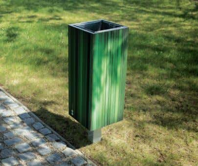 www.mmcite.com NNK560 / 565 / 561 / 566 Litter bin / with cover Corbeille / avec