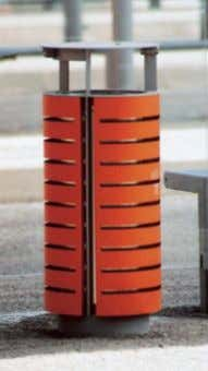 www.mmcite.com diagonal DG110 / 140 / 160 Litter bin Corbeille Abfallbehälter steel frame, covered with wooden