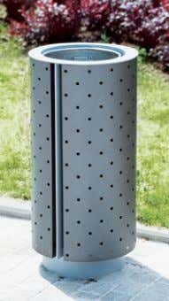 www.mmcite.com DG310 / 340 / 360 Litter bin Corbeille Abfallbehälter steel frame, covered with steel sheet