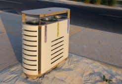 www.mmcite.com diagonal DG210 / 240 / 260 Litter bin Corbeille Abfallbehälter steel frame, covered with stretched