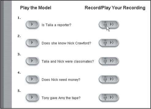 and do the practice exercises. • Record your voice. Compare with the model. xvi LEI Activity
