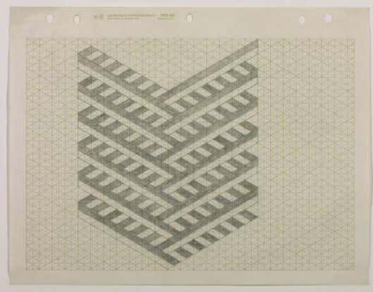 b. 1935 Agnes Martin American abstract painter 1912-2004 Carl Andre, Drawing for 'The perfect painting' 1967