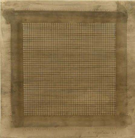 "works of art."" (Martin, 2002, quoted in Pesenti, 2010) Agnes Martin, Wood 1 , 1963 [Fig.8]"
