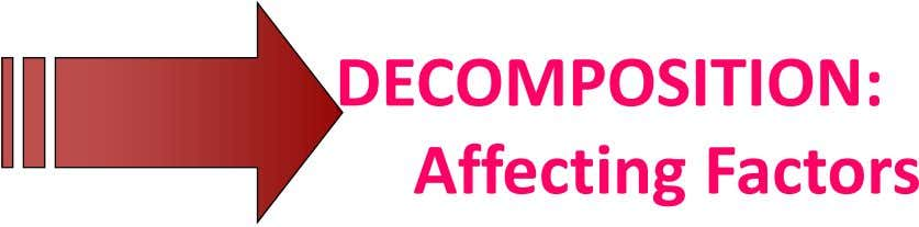 DECOMPOSITION: Affecting Factors