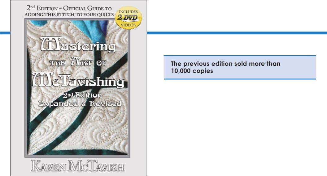 The previous edition sold more than 10,000 copies