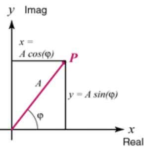 The trigonometric functions of sine and cosine are related to the exponential function by Euler's equation.