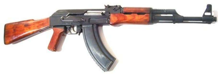 original AK-47 with combination stamped / milled receiver) Modified AK (1955 manufacture), with machined receiver. Note