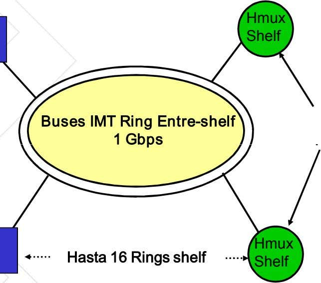 Hmux Shelf Buses IMT Rin g Entre­shelf 1Gb ps Hmux Hasta 16 Ri ngs shelf