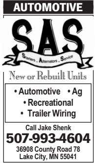 AUTOMOTIVE New or Rebuilt Units • Automotive • Ag • Recreational • Trailer Wiring Call