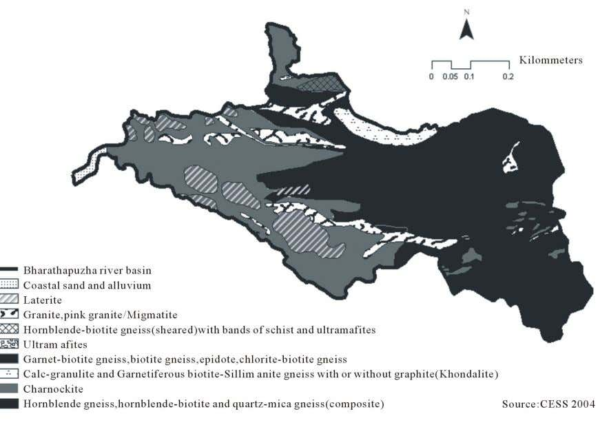 Sy stem: A Case from Bharathapuzha River Southern India 93 Figure 2. Geology of BRB. gneisses