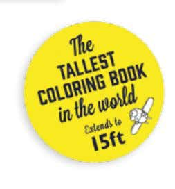 world's tallest coloring book, stretching to 4.5m/15ft! • A unique new take on the current coloring-in