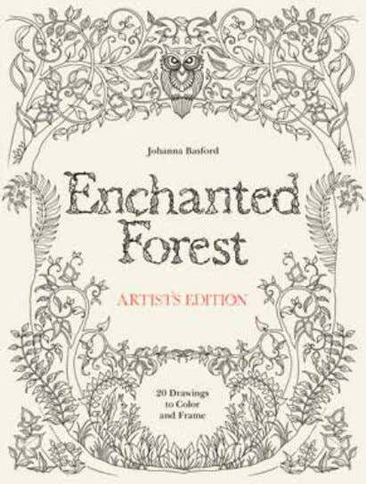 Enchanted Forest Artist's Edition 20 Drawings to Color and Frame Johanna Basford From the publisher