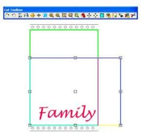 you enter the Cut window, the image will appear like this. Unlike with regular cutting, do