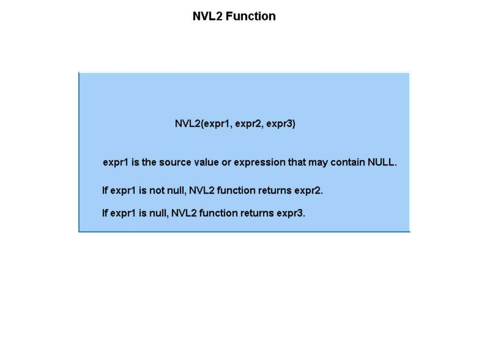 then the function returns the second expression. If the first expression is null, then the third