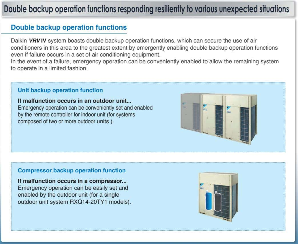 Double backup operation functions responding resiliently to various unexpected situations Double backup operation