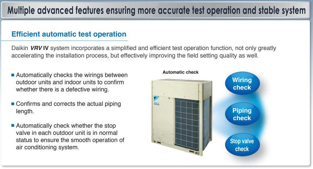 Multiple advanced features ensuring more accurate test operation and stable system Efficient automatic test operation