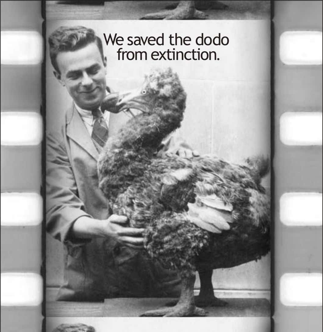We saved the do do from extinction.