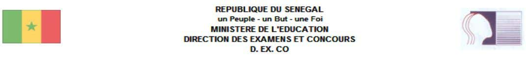 LISTE DES CANDIDATS ADMIS - CFEE LOUGA GUEOUL 1 KEBEMER 12 admis Option:ARABE   N°
