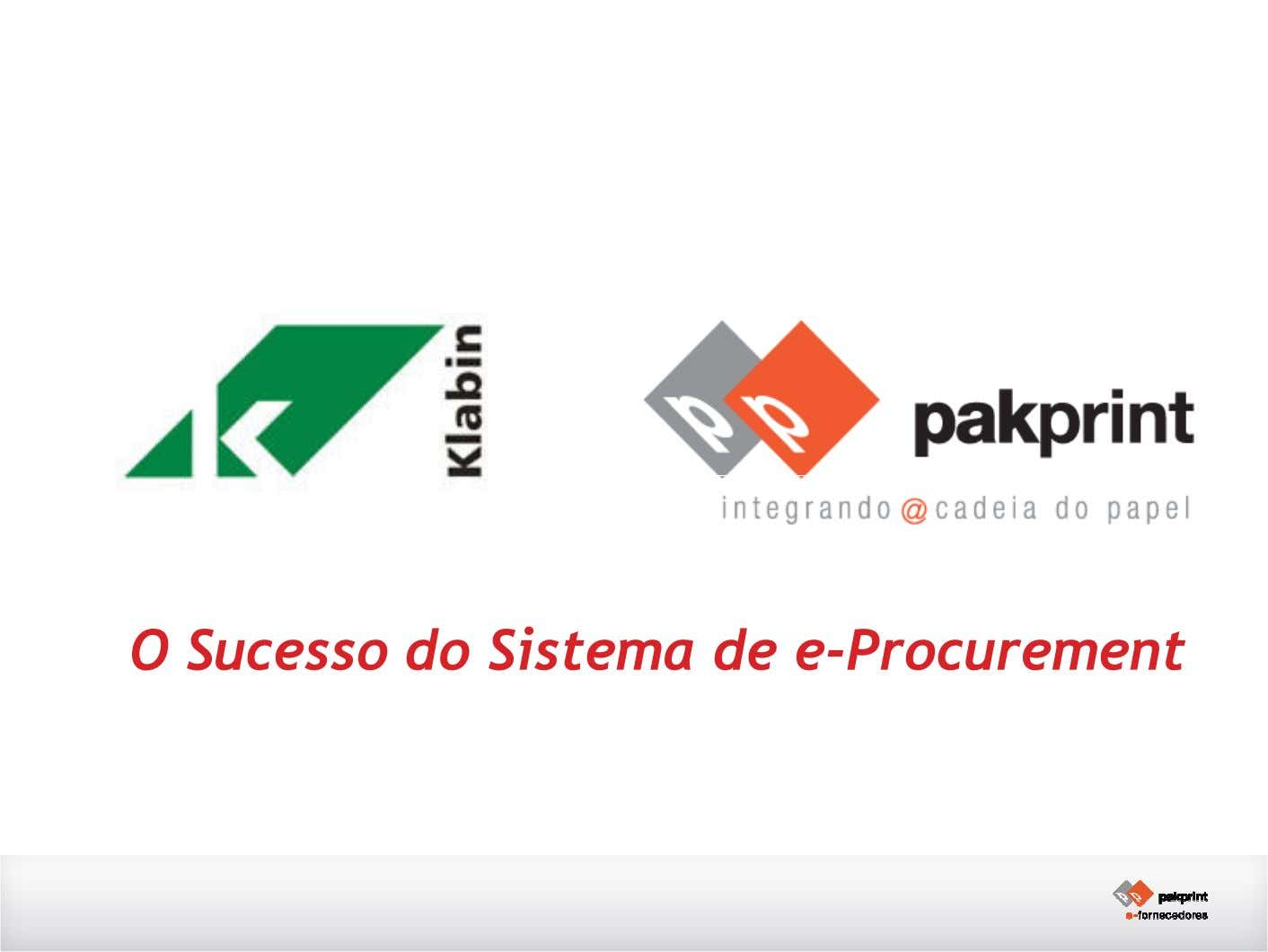 O Sucesso do Sistema de e-Procurement