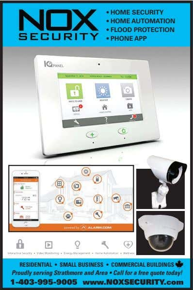• HOME SECURITY • HOME AUTOMATION • FLOOD PROTECTION • PHONE APP RESIDENTIAL • SMALL