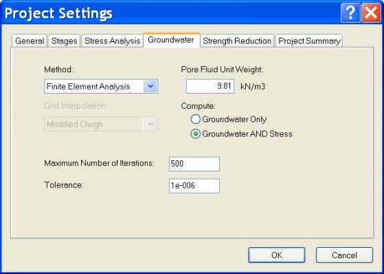 Finite Element Analysis. Leave all other options as default. Click OK to close the Project Settings