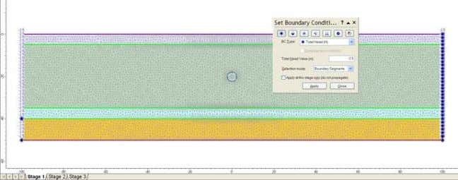 Drawdown due to tunnel excavation 27-14 We will now simulate the effect of a permeable liner