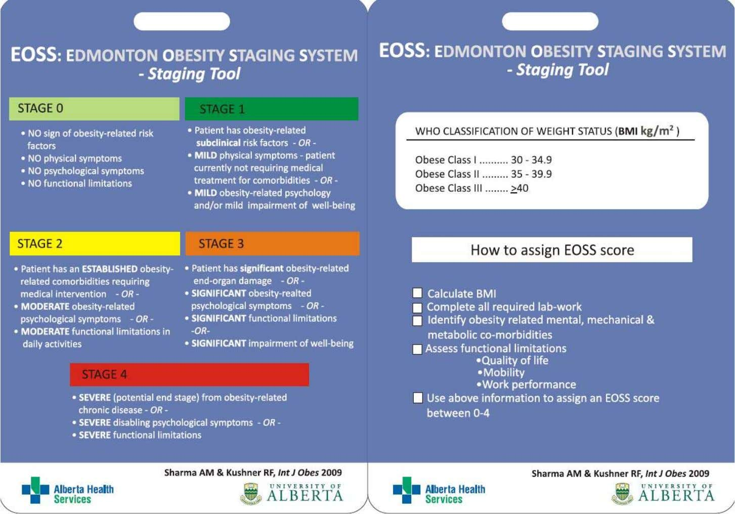25 http://www.drsharma.ca/wp-content/uploads/edmonton-obesity-staging-system-pocket-card.pdf