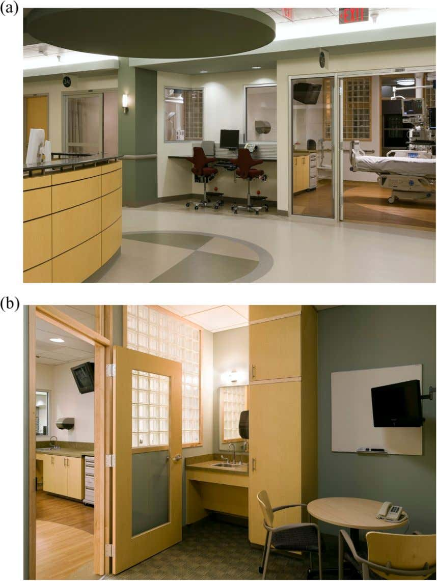 86 Health Environments Research & Design Journal 9(1) Figure 4. Images of family-centered unit (FCU). (a)