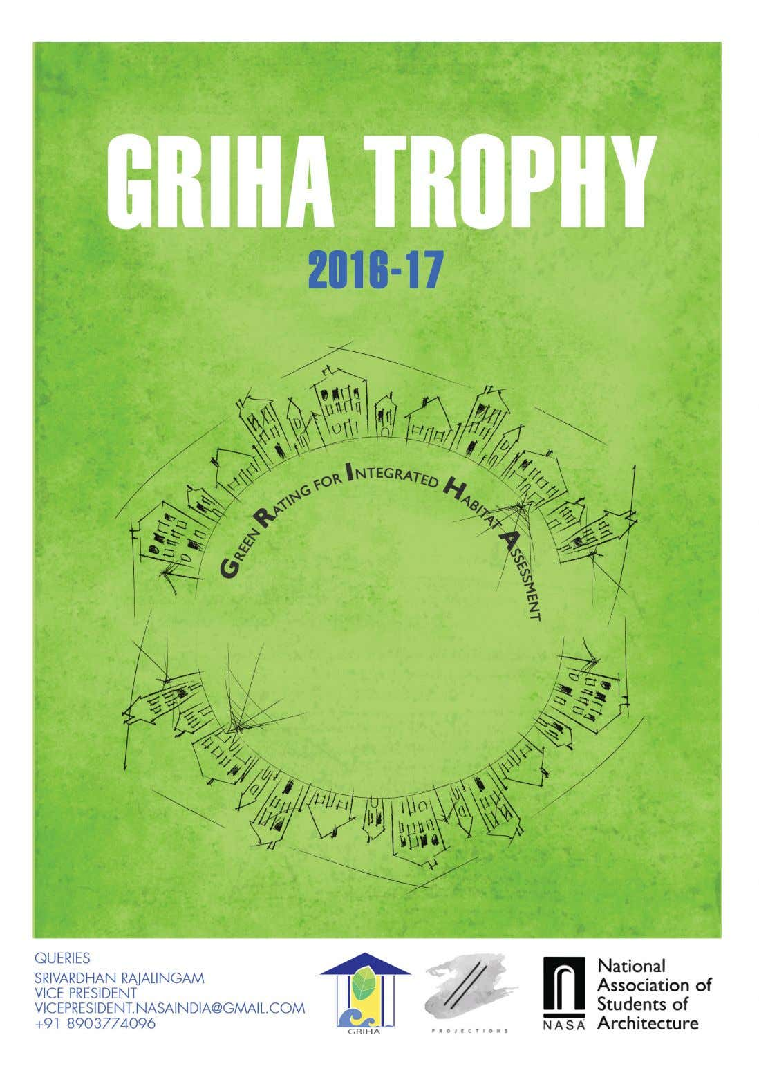 GRIHA TROPHY || 2016 - 17 National Association of Students of Architecture GRIHA Trophy 2016-17
