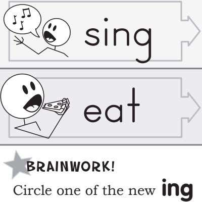 sing eat Circle one of the new ing
