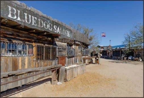 rides, BBQs and primitive camping that happens in October. The Blue Dog Saloon is actually a