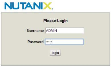 value for both user name and password is ADMIN (upper case). Figure: IPMI Console Login Screen