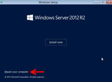 Install now button. It will be used later in the procedure. Figure: Hyper-V Installation Screen 5.