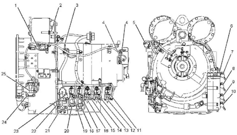 (MACHINE) POWERED BY C11 Engine(SEBP Página 2 de 20 Illustration 1 g01114417 Components and test points
