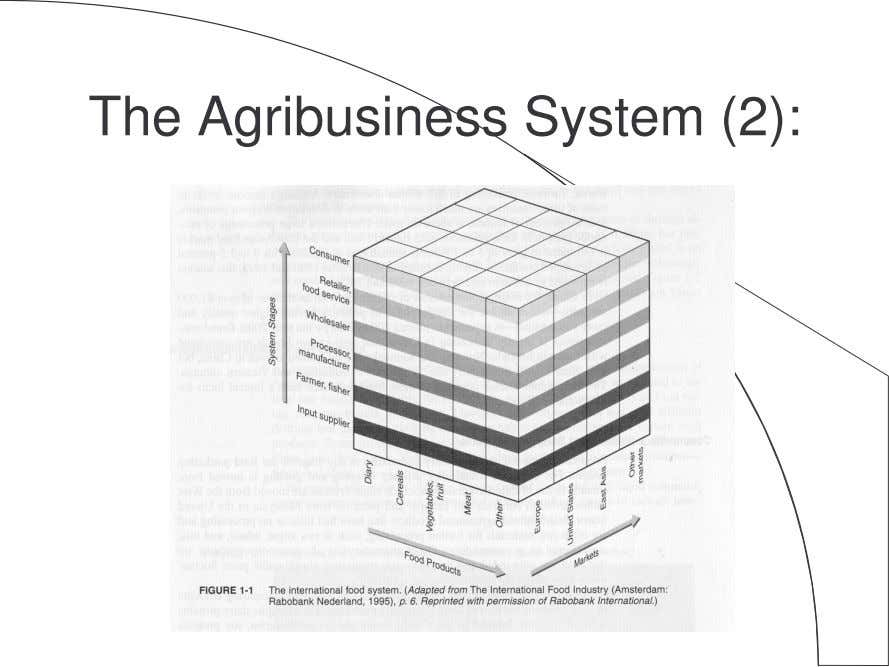 The Agribusiness System (2):