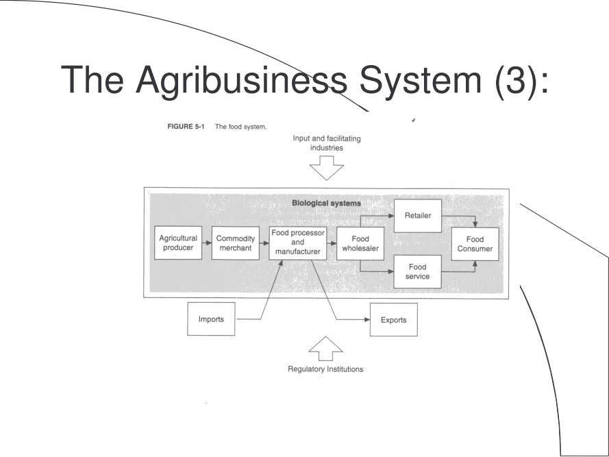 The Agribusiness System (3):
