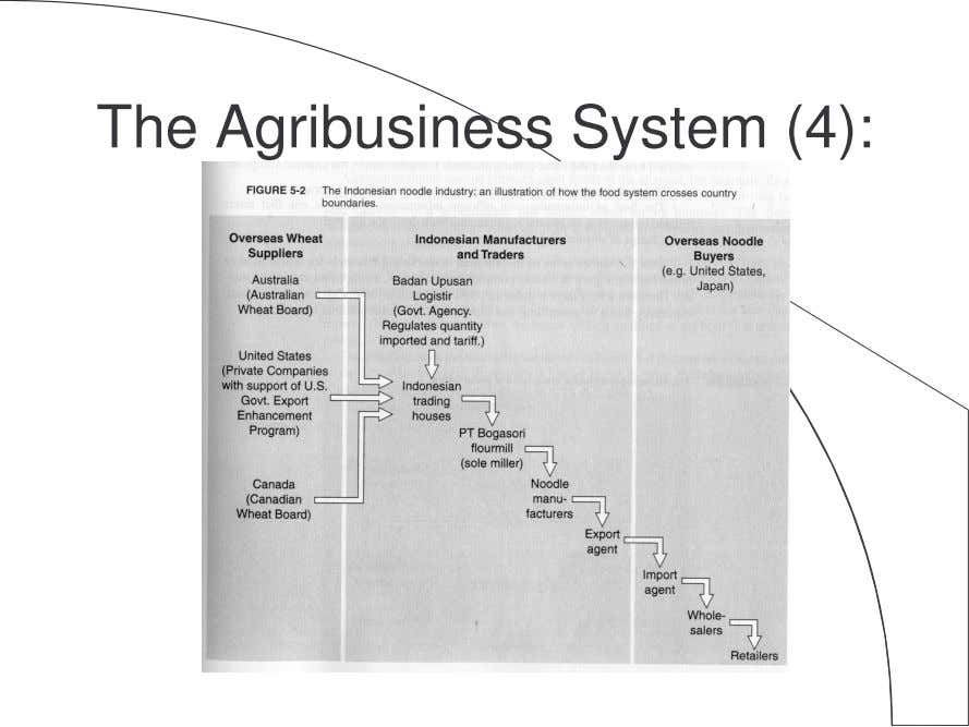 The Agribusiness System (4):