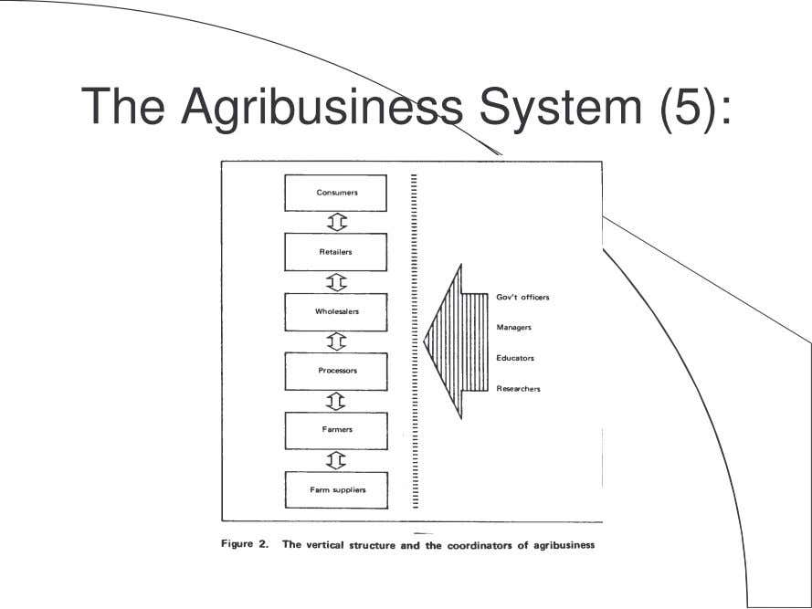 The Agribusiness System (5):